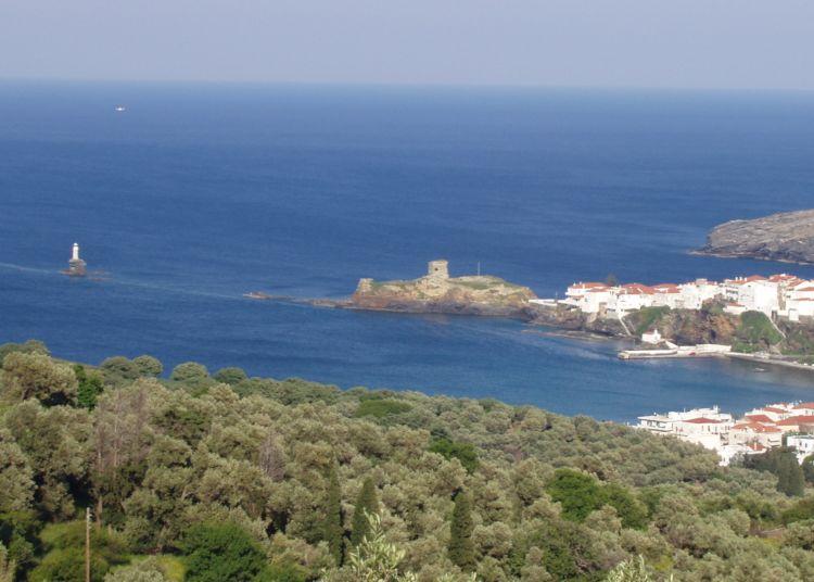 Ostrov Andros, dovolená v Řecku